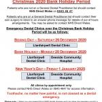 Emergency Dental Clinics for Christmas 2020